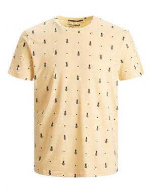 Jack and Jones Poolside Printed T-shirt in Sahara Sun