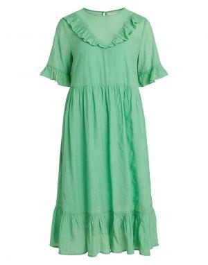 Vila Trine Midi Dress in Green Ash