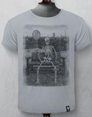 Dirty Velvet Get Well Soon T-shirt in Highrise Grey