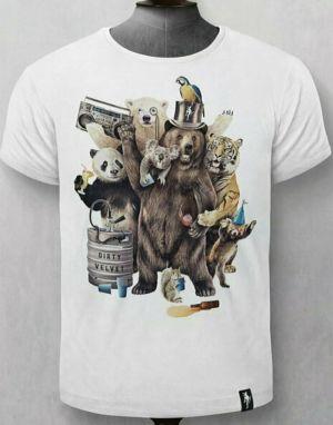 Dirty Velvet Party Animals T-shirt - White