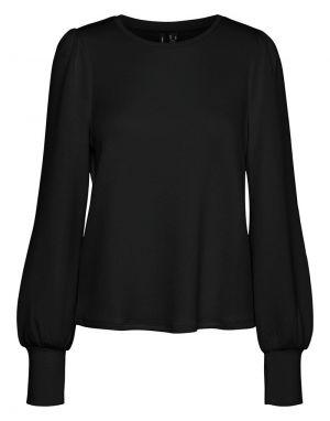 Vero Moda Silky Slit Sweater in Black