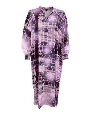 Black Colour Pixi Batik Kaftan Dress in Lavender
