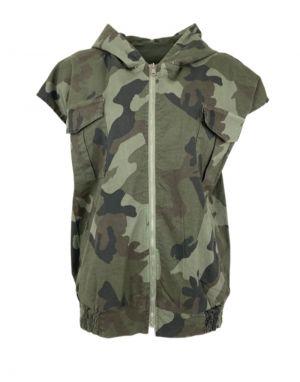 Black Colour Davis Camouflage Hooded Gilet