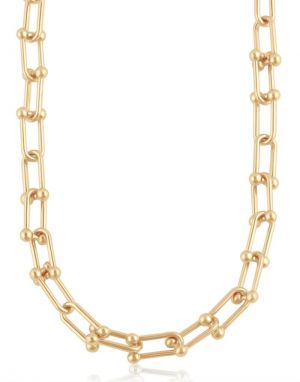 Big Metal Renata Chunky Necklace in Gold