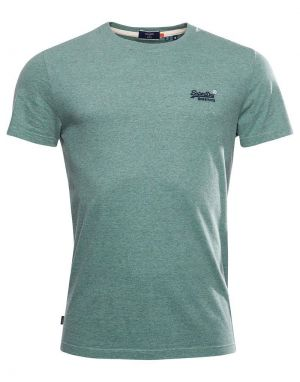 Superdry Orange Label Embroidered T-shirt in Seagrass Green Grit