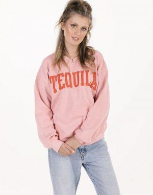 Sundae Tee Tequila Vintage Sweater in Pink