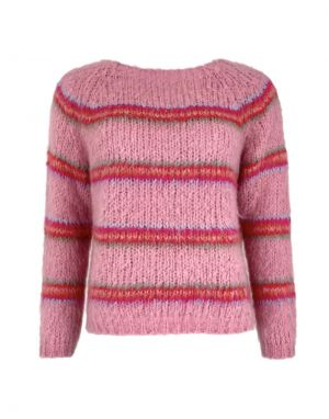 Black Colour Toni Knit Sweater in Pink