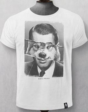Dirty Velvet Inner Wolf T-shirt - White