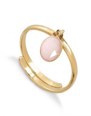 SVP Rio Ring in Rose Quartz Gold