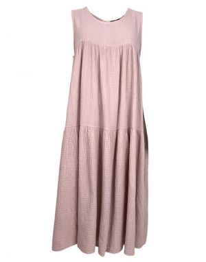 Black Colour Dune Long Maxi Dress in Pink