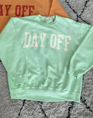Sundae Tee Day Off Vintage Sweater in Green