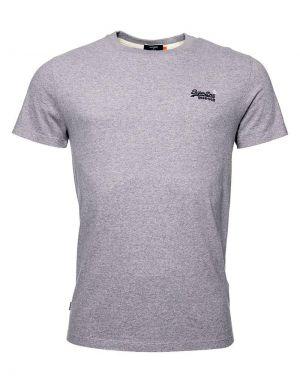 Superdry Orange Label Embroidered T-shirt in Coastal Pink Grit