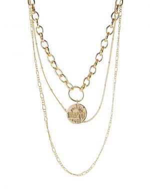 Pieces Molli Combi Necklace in Gold