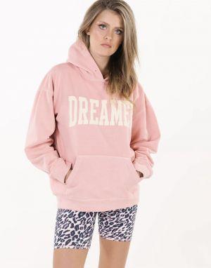 Sundae Tee Dreamer Hooded Sweater in Pink