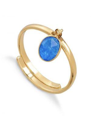 SVP Rio Ring in Blue Quartz Gold