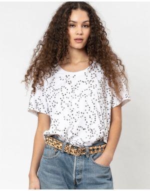 Religion Lust Sequin T-shirt in White