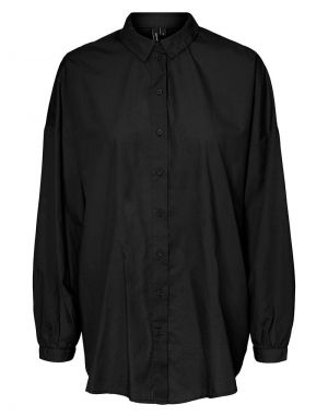Vero Moda Naja Long Shirt in Black