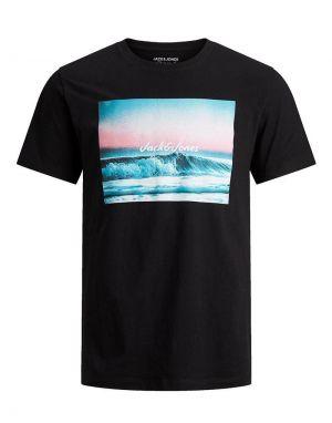 Jack and Jones Summer T-shirt in Black