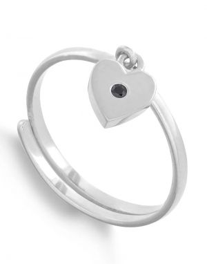 SVP Supersonic Charm Ring in Silver Heart