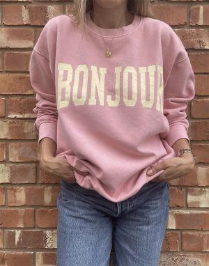 Sundae Tee Bonjour Vintage Sweater - Pink
