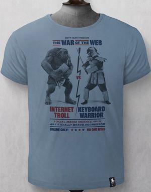 Dirty Velvet War of the Web T-shirt - Blue