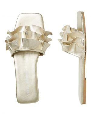 Vero Moda Jasmine Sandal in Pale Gold