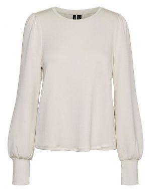 Vero Moda Silky Slit Sweater in Moonbeam