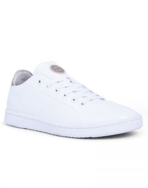 Woden Jane Leather Trainers in Bright White